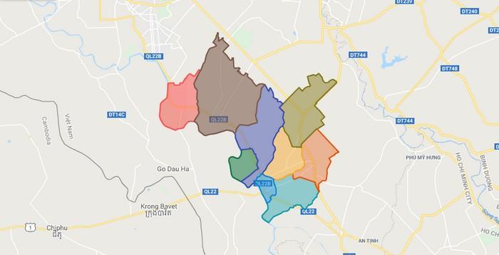 Các huyện ở Tây Ninh